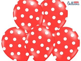 Õhupall, punane - täpline (30 cm)