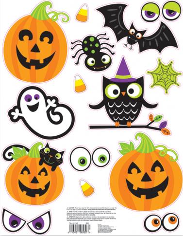 """Aknakaunistused-kleebised """"Halloweeni sõbrad"""""""