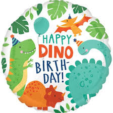 "Foolium õhupall ""Happy Dino-birthday"" (43cm)"