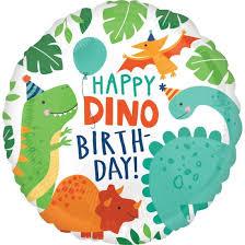 "Foolium õhupall ""Happy Dino-birthday"" (43cm)"