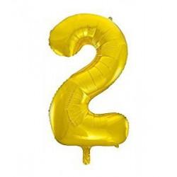 """Fooliumist õhupall """"2"""", kuldne (85 cm)"""