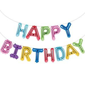 """Fooliumist õhupallikomplekt """"Happy birthday"""", värviline (35 cm)"""