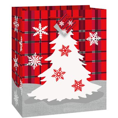 """Kinkekott """"Ruudulised Jõulud""""(18x10x23 cm)"""