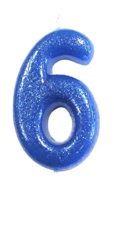 """Küünal """"6"""", sinine läikiv"""