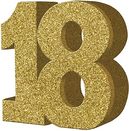 """Lauakaunistus, kuldne """"18"""" (20 cm)"""