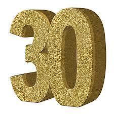 """Lauakaunistus, kuldne """"30"""" (20 cm)"""