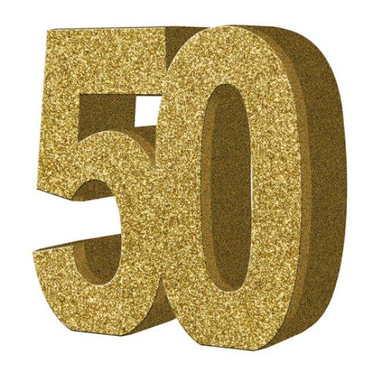 """Lauakaunistus, kuldne """"50"""" (20 cm)"""
