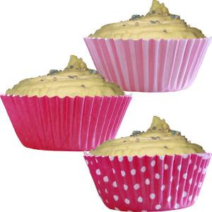 Muffinivormid, tumeroosa (75 tk.)