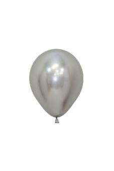 Õhupall, metalliseeritud hõbedane (12 cm)
