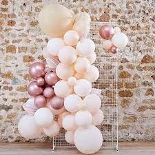 """Õhupallidekaar """"Tee ise"""", virsiku-roosakas kuldne dekoratiivsete lehtedega"""