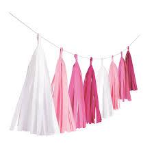 Rippuv dekoratsioon - valge/roosa tutikud (3 m)