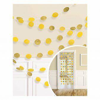Riputatav dekoratsioon, läikiv kollane (6 tk./2,13 m)