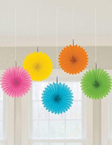 Riputatav dekoratsioon-lehvik, värvilised (5 tk)