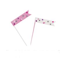 Suupistetikud-lipud, roosahallid (6 tk.)