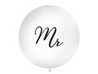 """Suur õhupall """"Mr"""", valge (1 m)"""