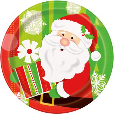 """Taldrikud Jõuluvana kingitused"""" (8 tk / 18 cm)"""
