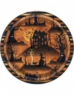 """Taldrikud """"Nõiutud maja"""" (8 tk / 17 cm)"""